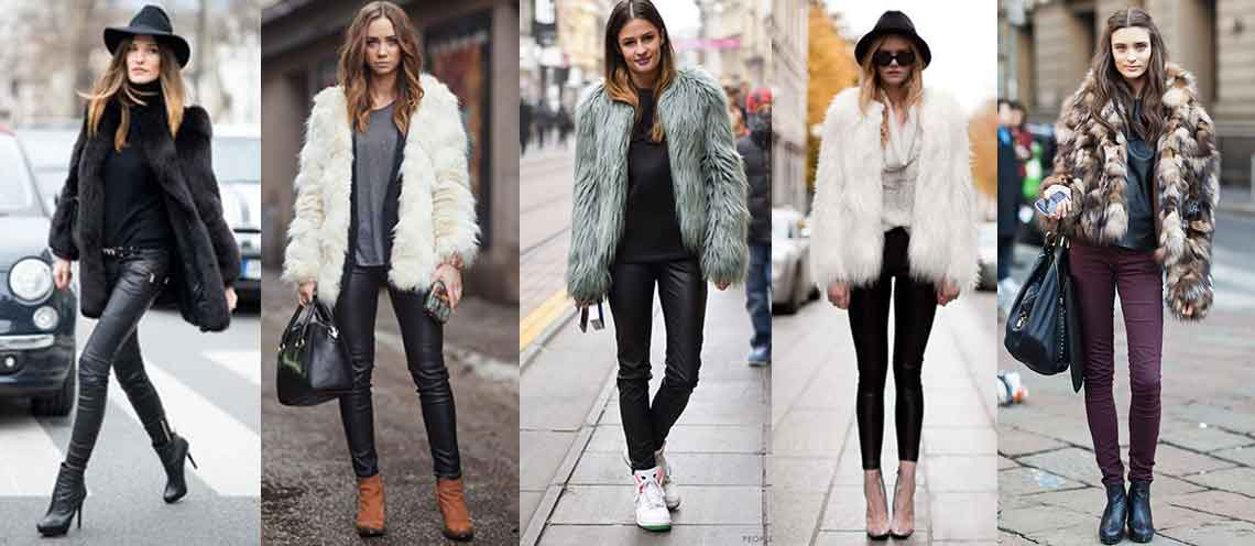 Fur jacket: tre look per indossare l'ecopelliccia